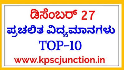 Top Current Affairs Quiz Questions: 27 December 2019