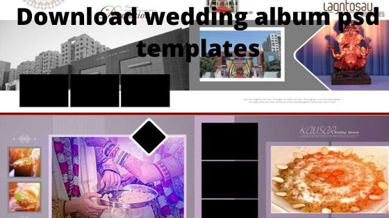 Wedding album psd templates Free Download 12x36