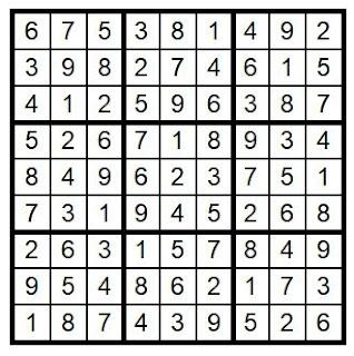 Answer Key Sudoku #34 Brain Training with Cats ©BionicBasil®