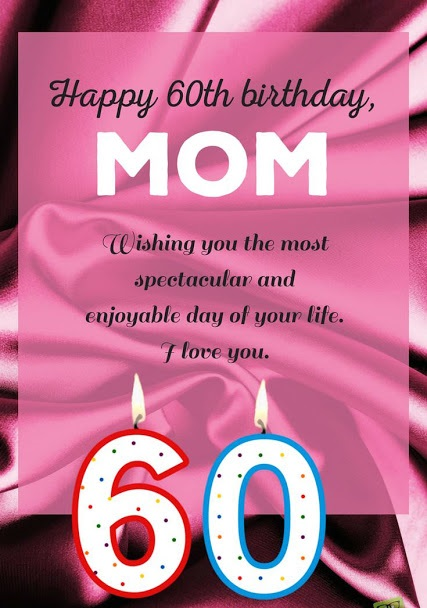60th Birthday Wishes for Mother - Best 60th B-day Messages For Mom
