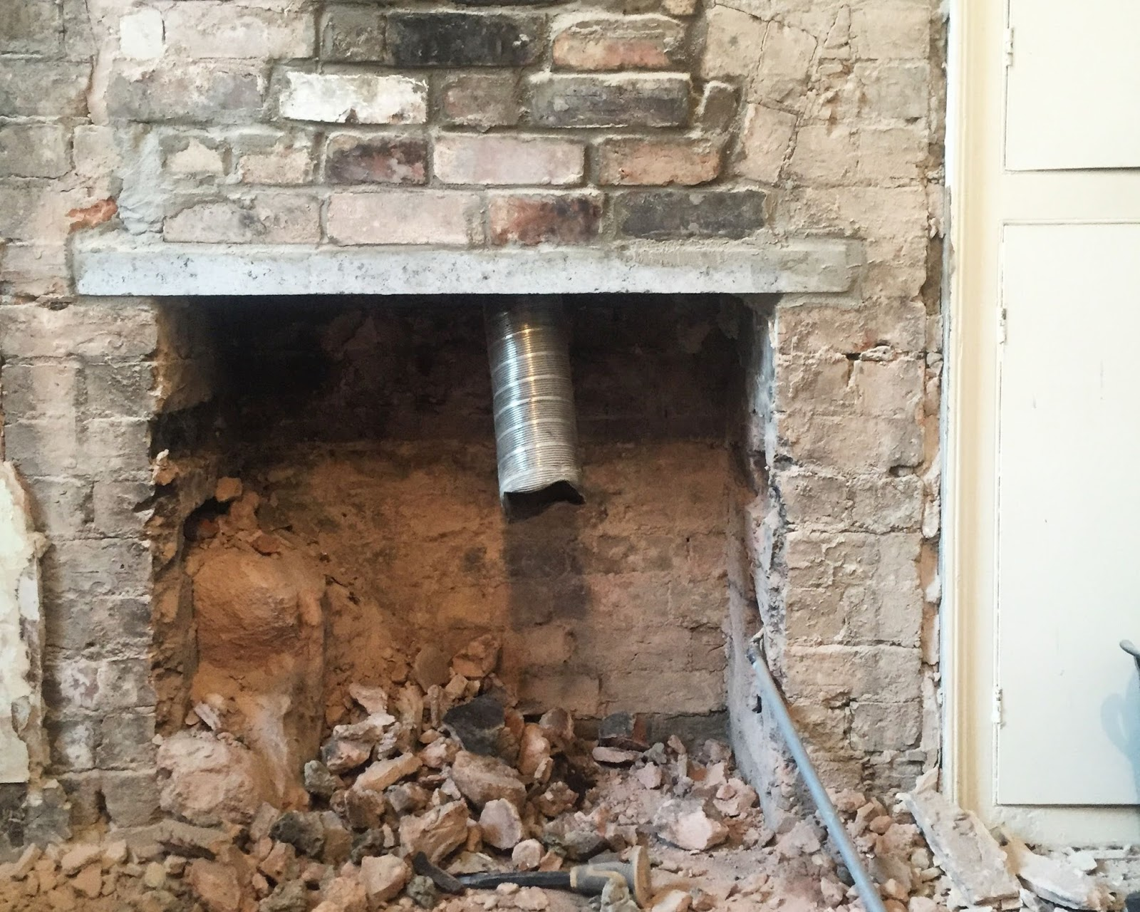 fitting a chimney lintel