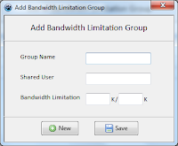 Tambah Group Limit Bandwidth