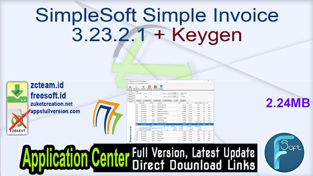 SimpleSoft Simple Invoice 3.23.2.1 + Keygen