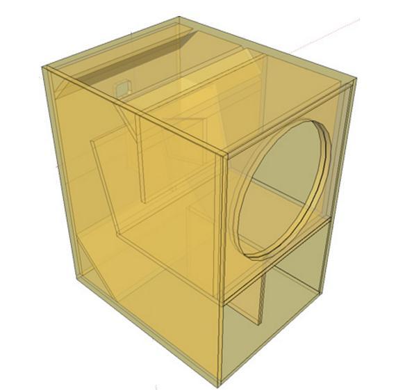 Desain box speaker mini scoop untuk outdoor