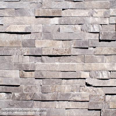 papel pintado piedra gris imitación natural