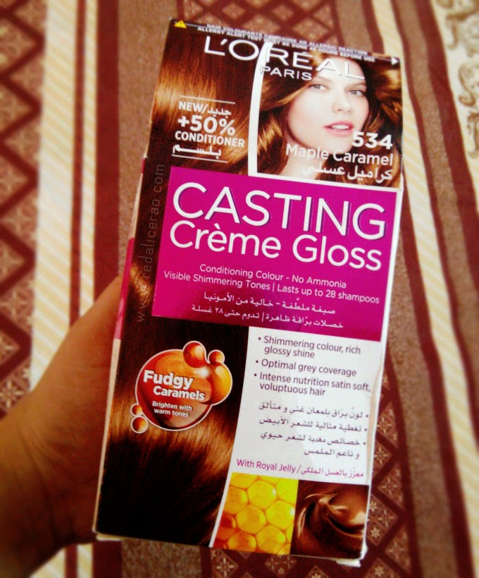 Caramel Mania, L'Oreal Pakistan, L'Oreal, L'Oreal Casting Creme gloss, Fudgy Caramels, Mapel Caramel, Delicious hair, beautiful healthy hair, Beauty blog, hair care, hair color, red alice rao, redalicerao, Pakistani Beauty Blog