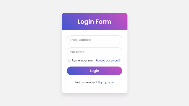 Login Form with Floating Label Animation using HTML & CSS