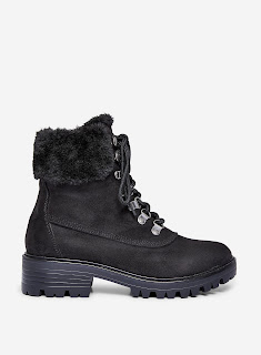 Dorothy Perkins - Black 'Millie' Fur Hiker Boots