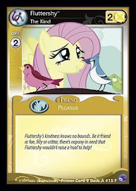 My Little Pony Fluttershy, The Kind Primer Deck CCG Card