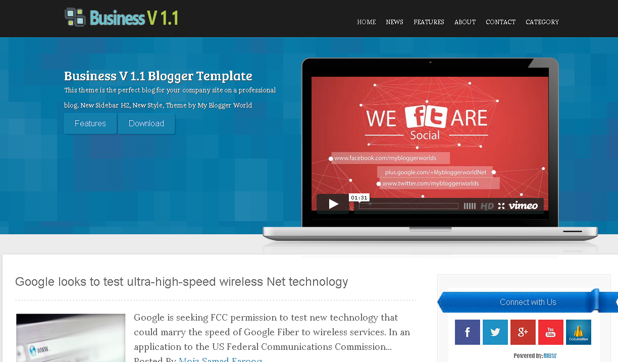 Business V 1.1 Blogger Template