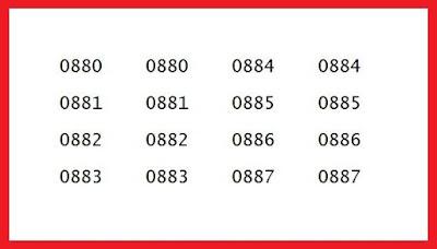 Karena banyaknya Provider yang hadir di Indonesia nomor awalan 0881 0882 0883 0884 0885 0886 0887 kartu apa