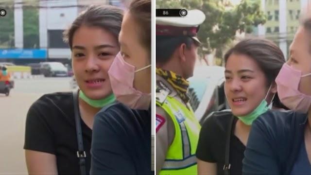 Kena Tilang Polisi, Wanita Ini Bikin Salfok Netizen