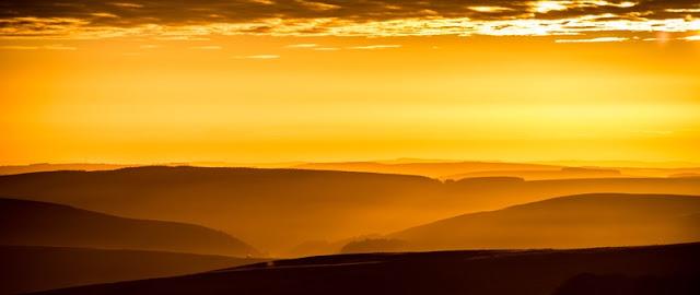 Sunset at  Sahara Desert