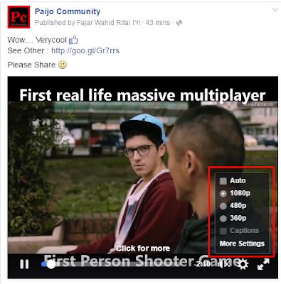 Contoh video HD di facebook