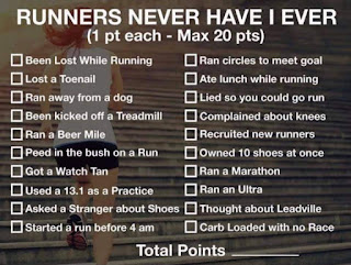 JoeG : Never Have I Ever While Running