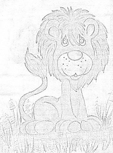 risco fralda leão
