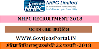 National Hydroelectric Power Corporation Recruitment 2018– 41 Apprentice