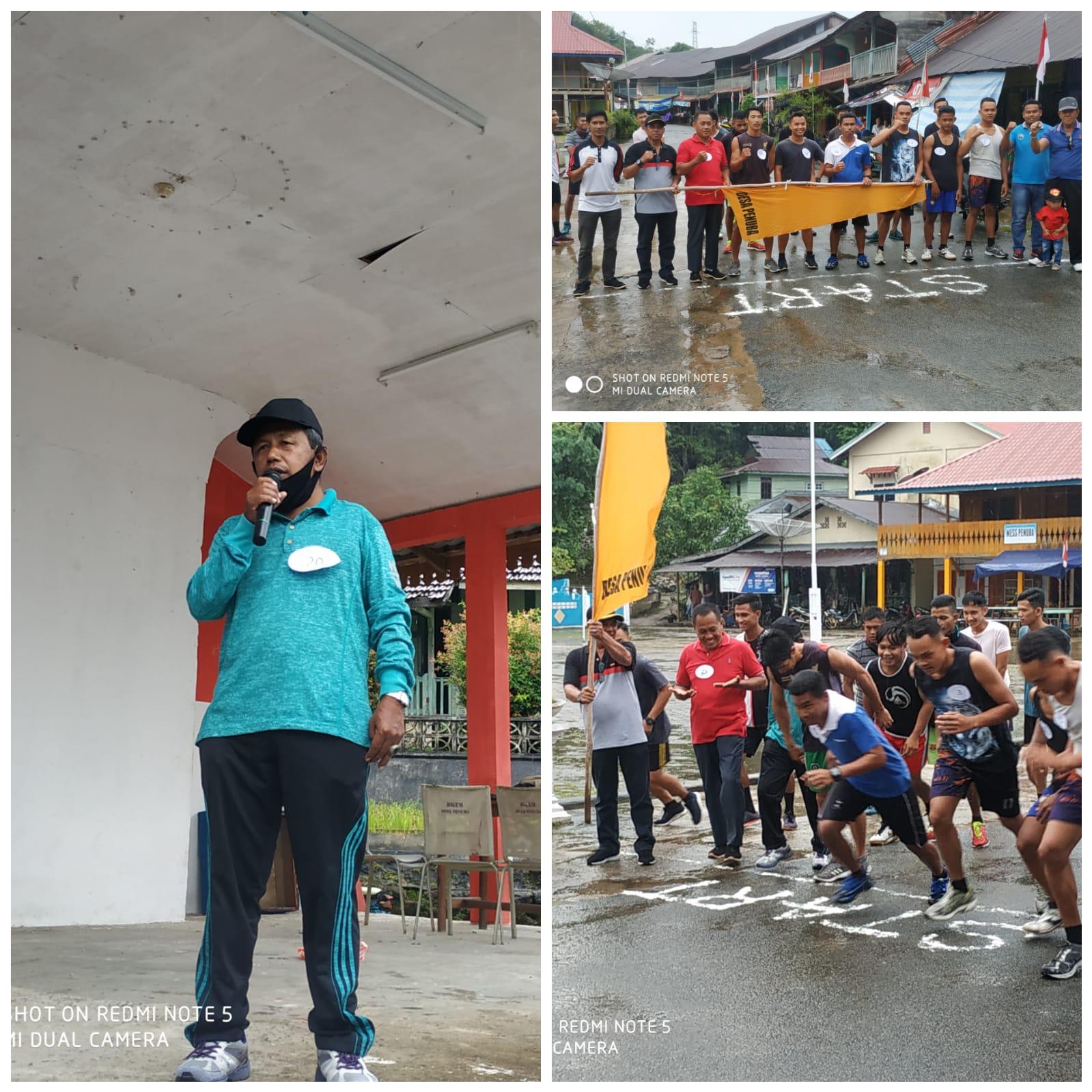 Meriahkan HUT RI ke 75, Belasan peserta Ikut Lomba Lari Maraton
