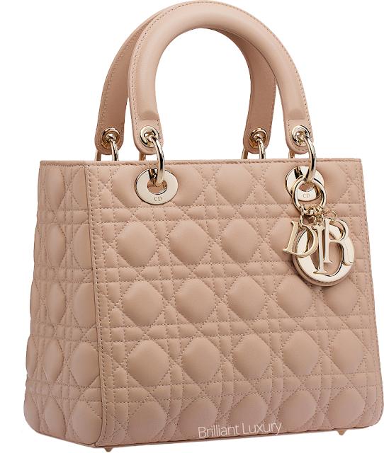 ♦Dior classic beige Lady Dior cannage stitching bag #dior #bags #ladydior #brilliantluxury