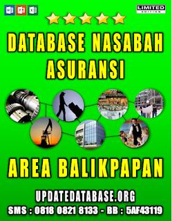 Jual Database Nasabah Asuransi Balikpapan