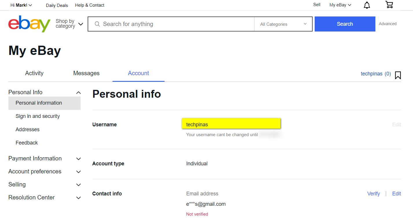 How to Change eBay Username User ID, eBay