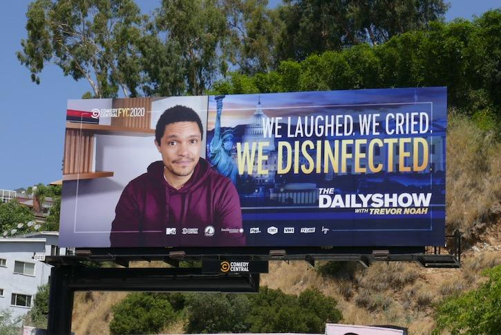 Daily Show Trevor Noah 2020 Emmy FYC billboard