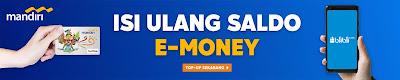cara isi saldo e-money di blibli.com