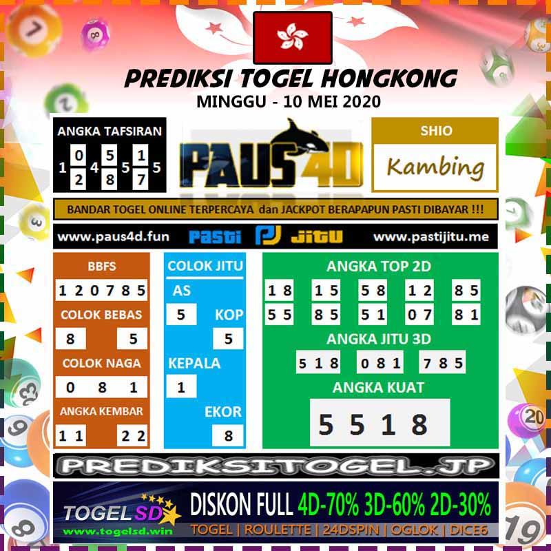 Prediksi HK Minggu 10 Mei 2020 - Prediksi Paus4D