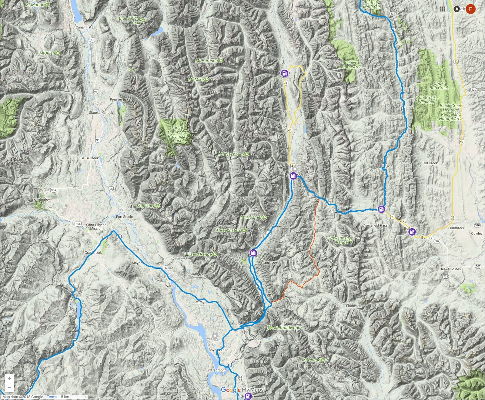 the level of detail is superior to that in the maps from garmin and is more adjustable of course google maps is also free allows you to overlay satellite