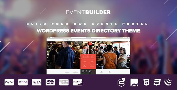 EventBuilder Wordpress Etkinlik Teması