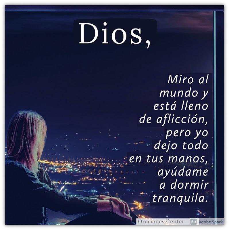 Oración de la Noche para Dormir Tranquila con la Paz de Dios