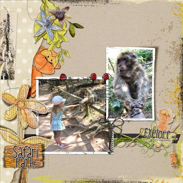 scrapbooking digital clindoeildesign clin d'oeil design Dawn Inskip Safari collection