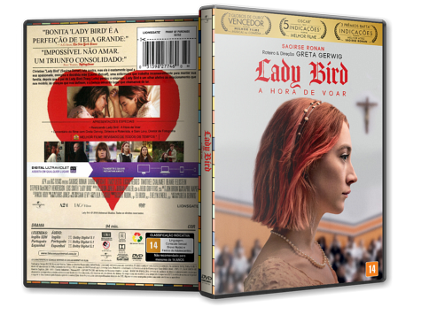 Capa DVD Lady Bird: A Hora de Voar