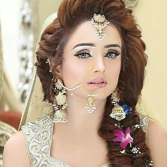 New Hairstyle For Wedding 2017 : Latest pakistani bridal wedding hairstyles sari info