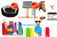 Logo Saldi Estivi fino al 70% su alimenti e accessori per i tuoi animali domestici