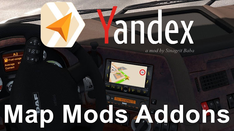 cover ets 2 yandex navigator normal & night version map mods addons