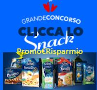 Logo Concorso ''Clicca lo Snack'': vinci gratis forniture di prodotti e buoni sconto e non solo
