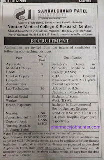 Recruitment of Nursing Superintendent