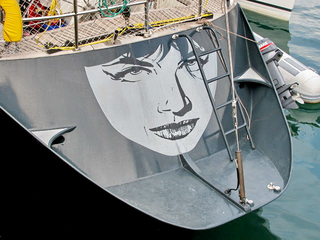 woman in a black yacht