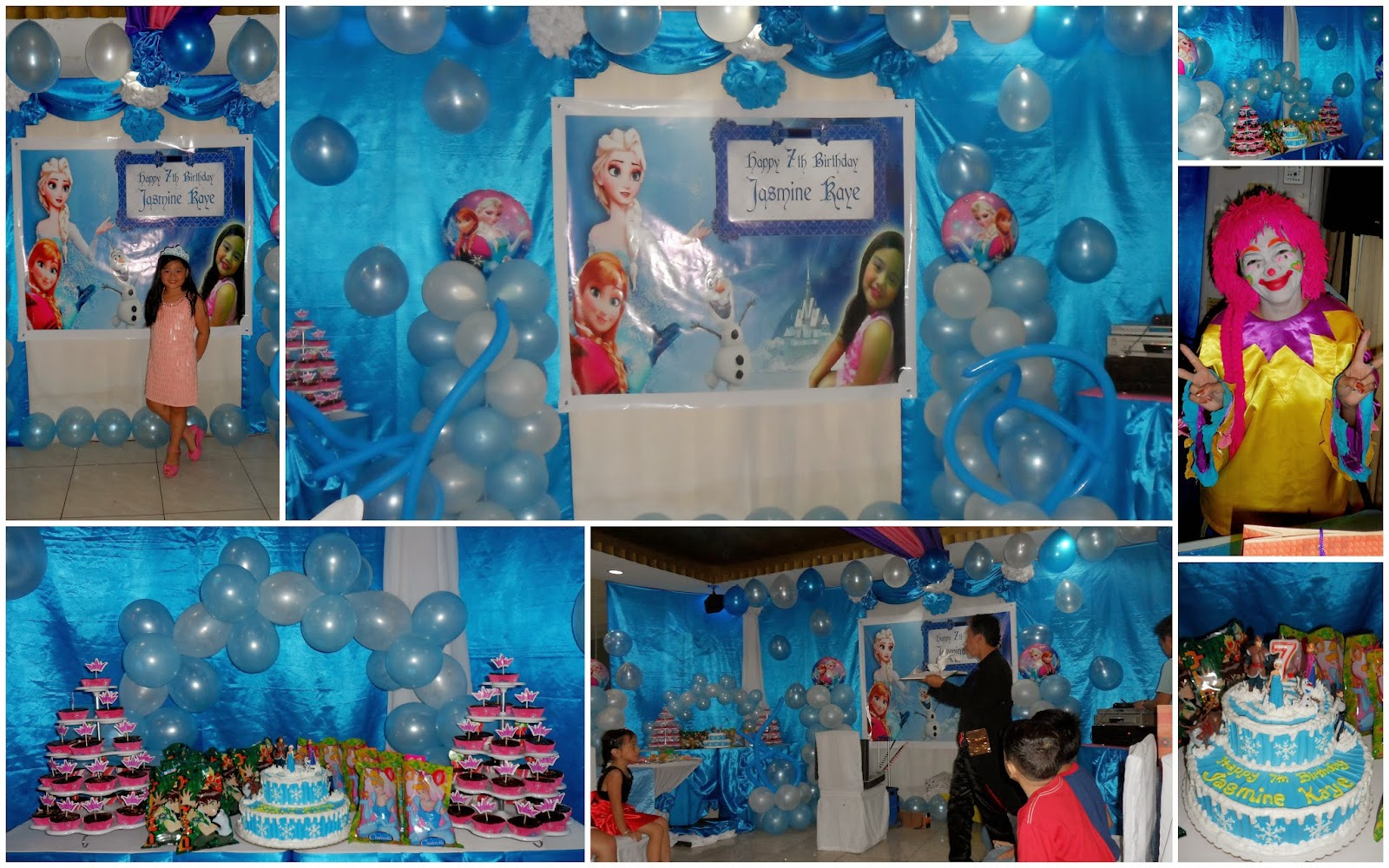 Frozen Themed 7th Birthday 3 May 2014 Athena Miel S Balloons Bubbles And Needs