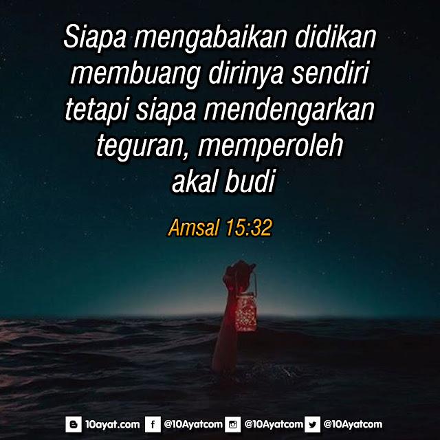 Amsal 15:32