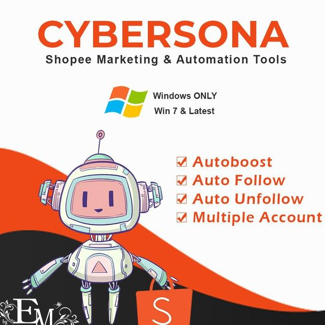 cybersona shopee bot boost tambah follower