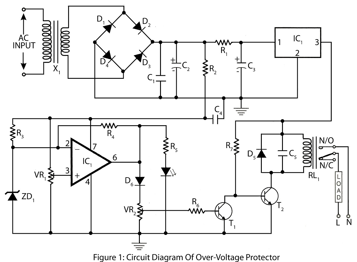 Simple Over Voltage Protector Circuit Diagram Circuit Diagram