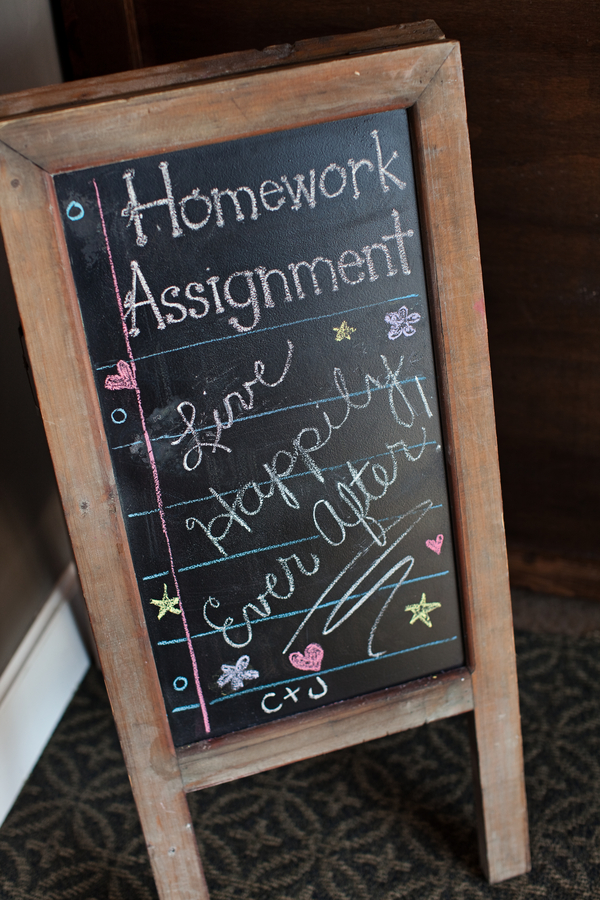 teacher+elementary+high+school+sweethearts+teach+themed+wedding+map+travel+globe+yellow+vintage+book+books+centerpieces+centerpiece+table+reception+mason+jar+jars+floral+arrangements+pencil+chalkboard+chalkboards+fenzel+photographers+15 - Homework: Happily Ever After