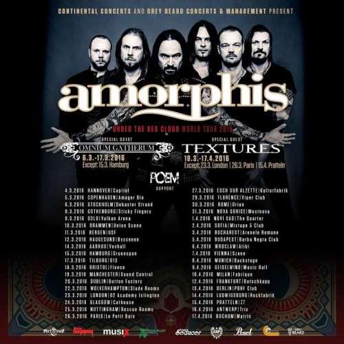 POEM: Σε Ευρωπαϊκή περιοδεία με τους Amorphis