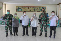 Kirana Pritasari Apresiasi Gerakan Vaksinasi Covid-19 di Korem Wira Bhakti