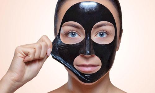 Mascarilla facial negra de carbon