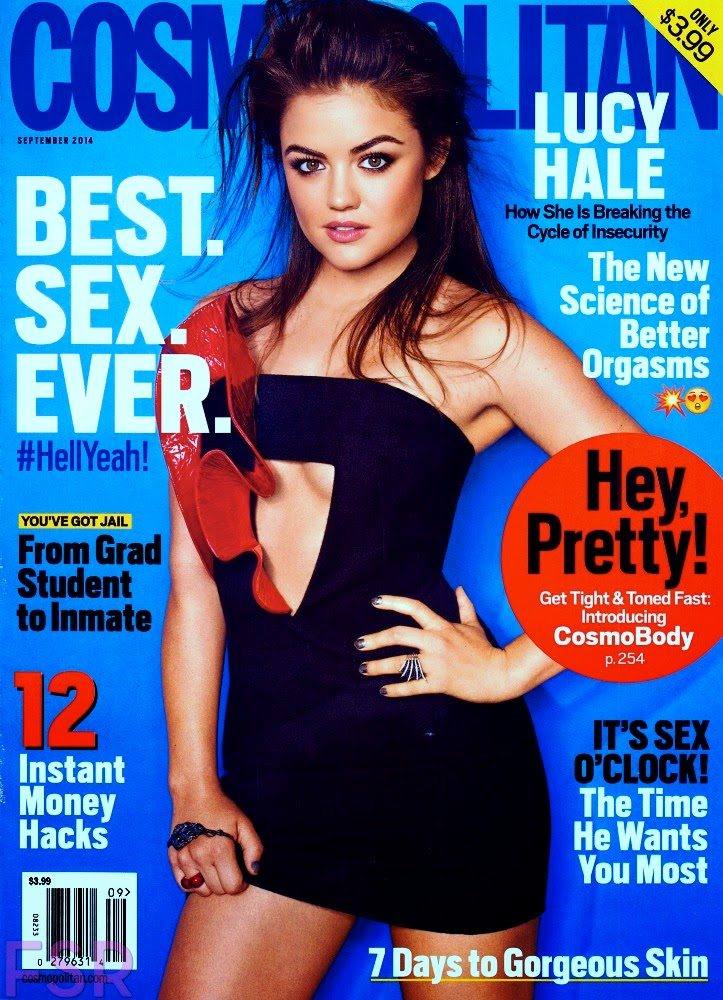 Lucy Hale is seductive for Cosmopolitan's September 2014 issue