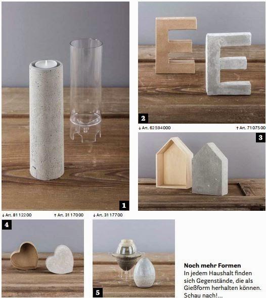 beton basteln giessformen dansenfeesten. Black Bedroom Furniture Sets. Home Design Ideas