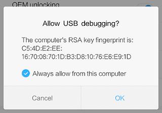 Izinkan USB Debugging